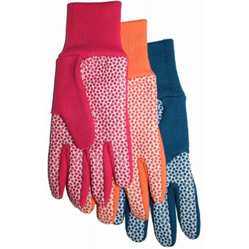 MIDWEST QUALITY GLOVES 522D4 Combination Jersey /& Cotton Canvas Gloves