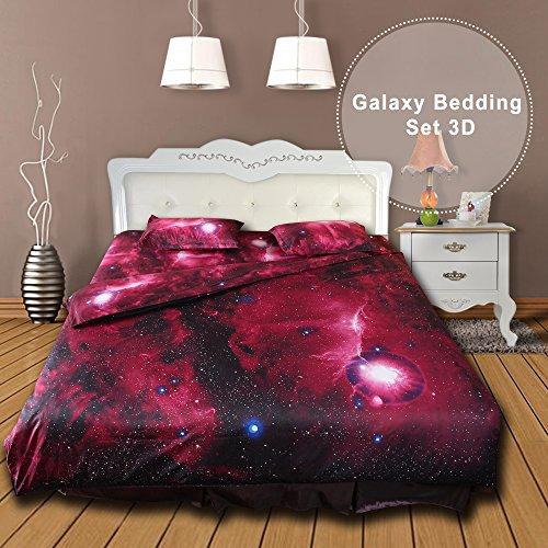 Greensha 4 Pieces Bed Sheets Set-1 Bed Sheets,1 Duvet Cover,