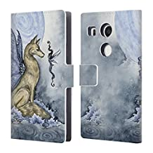 Official Amy Brown Wolf Moon Folklore Leather Book Wallet Case Cover For LG Nexus 5