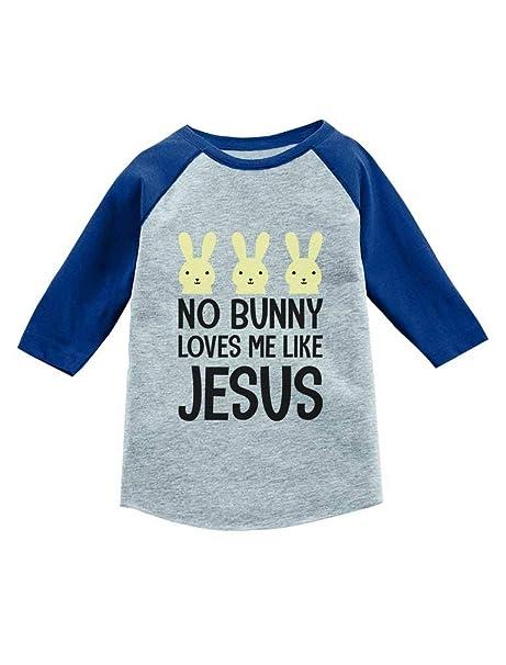 058423102 Amazon.com: No Bunny Loves Me Like Jesus Easter 3/4 Sleeve Baseball Jersey  Toddler Shirt: Clothing