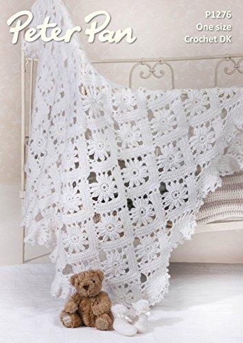 Peter Pan Baby Shawl Bootees Petite Fleur Crochet Pattern 1276 Dk