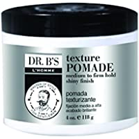 Dr. B's L'Homme Texture Pomade, Medium to Firm Hold, Shiny Finish, 4oz X1