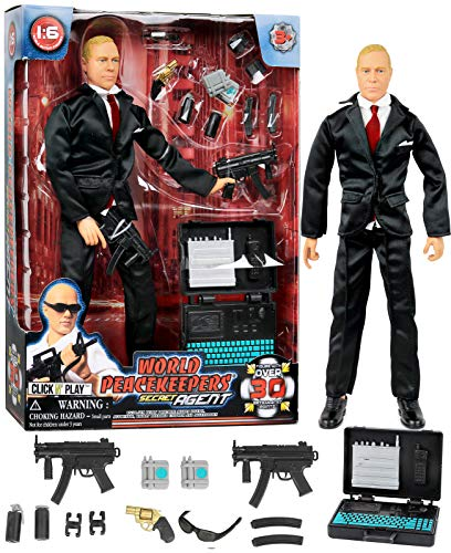 Inch Military Figures 12 (Click N' Play Secret Service with Suit 12