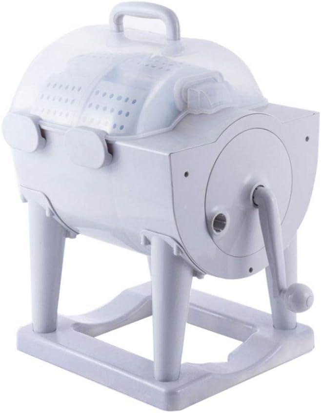 YALIXI Lavadora Manual De Manivela No Eléctrica Portátil,Diseño Combinado De Lavadora Y Secadora, Viajes,Camping,Carro De La Estación