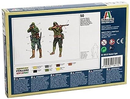 Amazon.com: Italeri 6170 – Maqueta 1/72 WWII Infantería ...