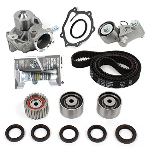 New TSW304SI (223 TEETH) Timing Belt Kit w/HNBR OEM GRADE Belt & Water Pump Set w/RTV Silicone (Pump Water Kit Combo)