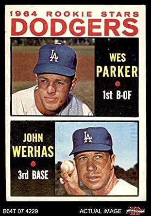 14451bb96e8f0 Amazon.com  1964 Topps   456 Dodgers Rookies Wes Parker John Werhas ...