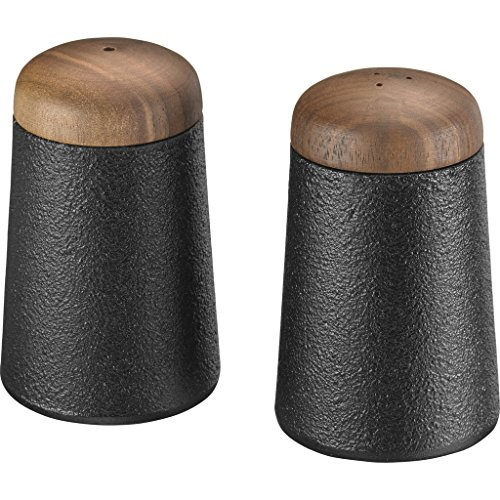 Skeppshult Cast Iron Salt & Pepper Shakers | Walnut Lid by Skeppshult