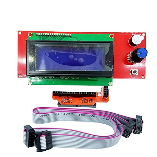 BALITENSEN 2004 LCD Smart Display Controller Module with Adapter for 3D Printer Reprap Ramps 1.4 2004LCD Control Uno Mega by BALITENSEN
