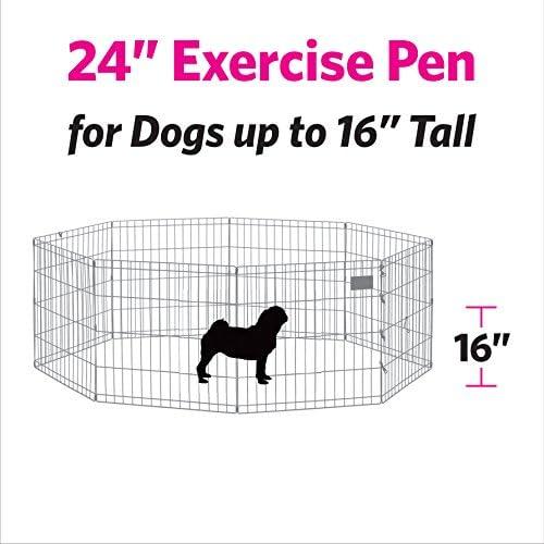 "New World Pet Products B550-24, corralito para mascotas, negro, pequeño / 24 ""x 24"" 5"