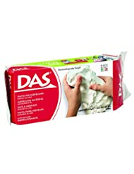 DAS Air Hardening Modeling Clay, 2.2 Pound Block, White (3875...