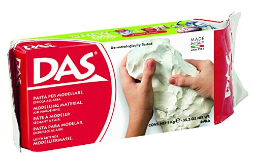 DAS Air Hardening Modeling Clay, 2.2 Pound Block, White (Dry Clay)