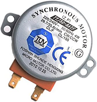Zkee Shop TYJ50-8A7F Motor sincrónico Square Plastic Axis For Horno microondas 4W 2.2CM CW CCW 29.7-35.6 RPM