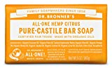 Dr. Bronner's Pure-Castile Bar Soap – Citrus Orange, 5...
