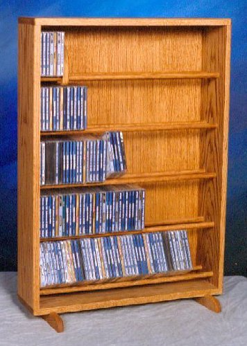24.25 in. Dowel CD Storage Tower (Honey Oak)