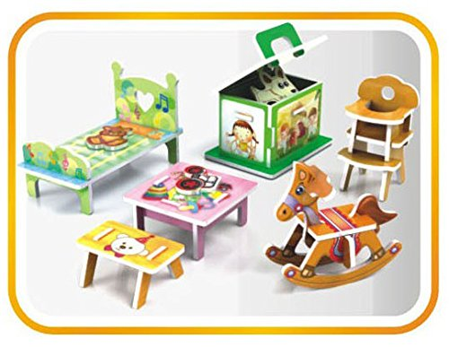 Top race diy doll house decor living room bath room for Room decoration products