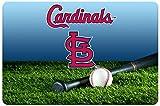 GameWear St. Louis Cardinals Baseball Pet Bowl Mat, Large