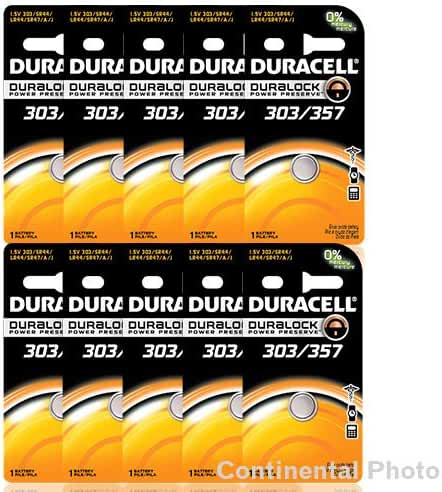 24 Duracell 357 303 A76 PX76 SR44W/SW LR44 AG13 Silver Oxide Battery