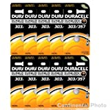 50 Duracell 357 303 A76 PX76 SR44W/SW LR44 AG13 Silver Oxide Battery