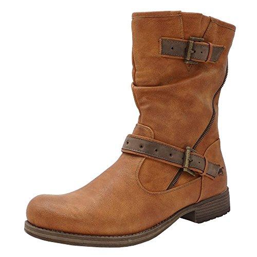 Mustang - Botas de Material Sintético para mujer marrón marrón