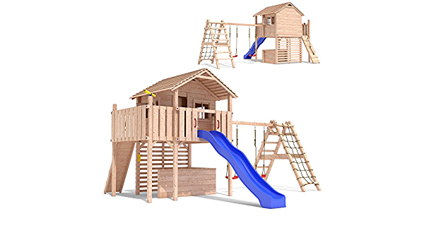 MAXIMO Plato Torre Escalada Marco Slide Swings Treehouse ...