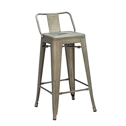 Fabulous Erommy 32 Inch Bar Stools With Bucket Back Indoor Outdoor Counter Height Stool Metal Bar Chairs Set Of 2 Squirreltailoven Fun Painted Chair Ideas Images Squirreltailovenorg