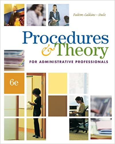 Amazon procedures theory for administrative professionals amazon procedures theory for administrative professionals administrative support concepts ebook patsy fulton calkins karin m stulz kindle store fandeluxe Gallery