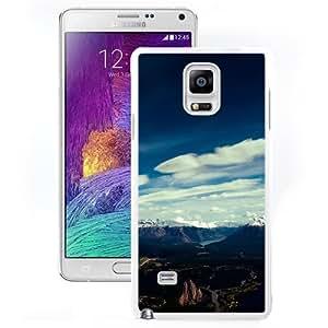 Unique Designed Cover Case For Samsung Galaxy Note 4 N910A N910T N910P N910V N910R4 With Me Canada Mountain Blue Sky Snow High Nature (2) Phone Case