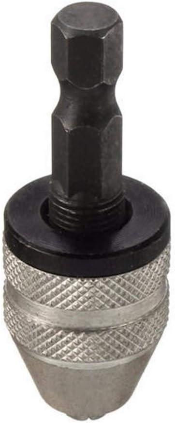 1//4 Inch Hex Shank Keyless Drill Chuck Quick Change Adapter Converter 0.3-3mm Cutting Tools CHUNSHENN Drill Accessories