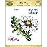 JustRite Papercraft Mini Cling Stamp Set 3.5''X4''-Hello Daisy 4pc by Justrite