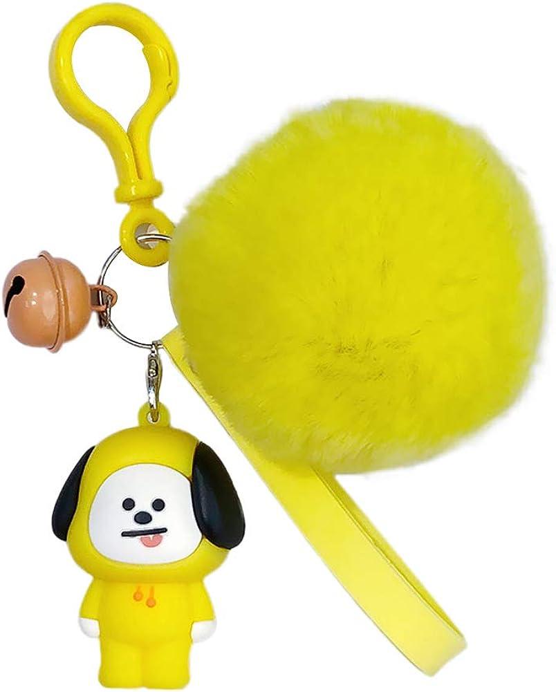 Youyouchard Kpop BTS Cartoon Silicone Keychain Bag Pendant Keyring TATA COOKY MANG