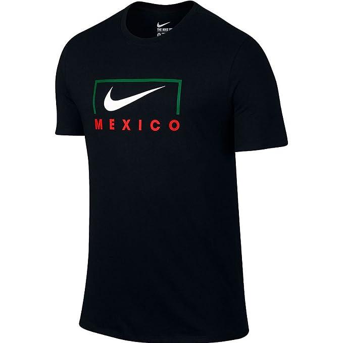 d112e0d2bbb Nike Men s EC16 Copa Mexico Swoosh Global Football Soccer T-Shirt Black ...