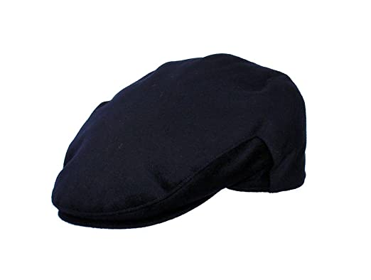 6f5c9990465 The Hat Outlet Men s Navy Cashmere Flat Cap  Amazon.co.uk  Clothing