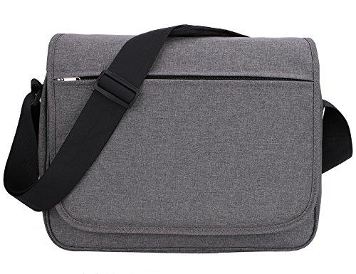 MIER Unisex Messenger Bag 15.6-Inch Laptop Shoulder Bag for Work and School, Multiple Pocket, Update ()