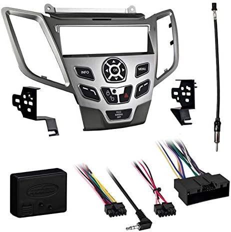 Radio Replacement Dash Mount Kit 1-DIN w//Harness//Antenna for Chrysler//Dodge//Jeep