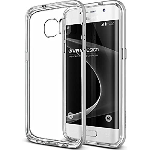 Galaxy S7 Edge Case, VRS Design [Crystal Bumper][Satin Silver] - [Clear Cover][Military Protection] For Samsung Sales