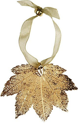 Curious Designs Leaf Ornament - Sugar and/Or Full Moon Maple, Gold-Plated, Irregular, Reduced