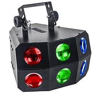 Efecto de luz, 24 LED de 3 W, 4 canales DMX, 260x280x220 mm - KARMA DJ DERBY100