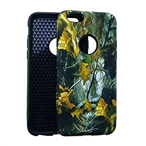CellTx Slim Hybrid Case For Apple (iPhone 6) Tough Cover (Camouflage, Camo, Forest, Dry Leaves) AT&T, T-Mobile, Sprint, Verizon, Boost Mobile, U.S Cellular, Cricket by mcsharks