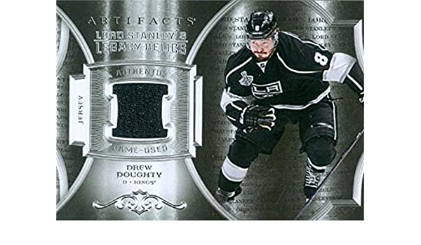 Drew Doughty player worn jersey patch hockey card (Los Angeles Kings  Enforcer) 2015 Upper Deck Artifacts Lord Stanley s Legacy  LSLRDD at  Amazon s Sports ... 427169650