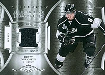 Drew Doughty player worn jersey patch hockey card (Los Angeles Kings  Enforcer) 2015 Upper 470453bee