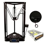Anycubic Upgraded Delta Rostock 3D Printer Kossel Kit Large Print Size with Heatbed and Power Supply