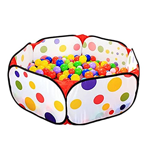 Roadacc (TM) Foldable Children Portable inflatable Ball Pit Pool Kids playground Great for Fun Outdoor or (Pit For Kids)