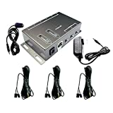 IR Repeater,IR Remote Control Extender,Infrared Repeater System (3 Dual Head ir emitter)