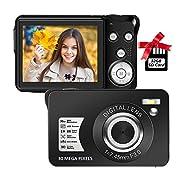 Digital Camera,30MP Compact Camera,2.7 inch Pocket Camera,Rechargeable Small Digital Camera for Kids,Students,School…