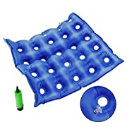Beyoung Medical Premium Air Inflatable Seat Cushion for Wheelchair and Day to Day Use Prolonged Sitting with Pump - Sealed Construction for Durability FDA CE Approved 17  X 17