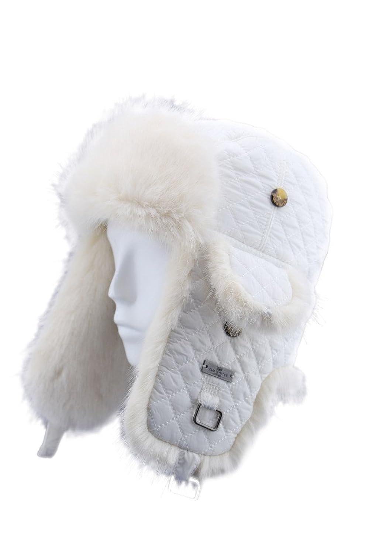 Fell Winter Kunstfell Diamond Quilted Nylon Aviator Bomber Trapper Pilot Ski Hat