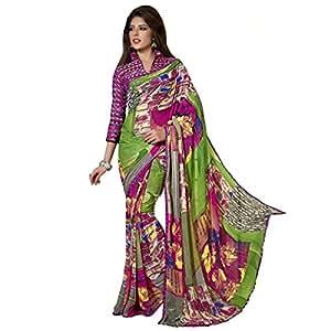 Shilp-Kala Faux Georgette Printed Multi Colored Sarees SK69007