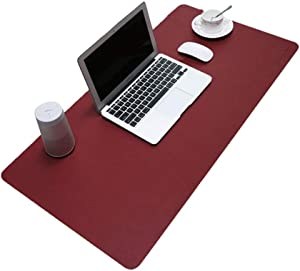"""Xtrempro Desk mat for Office, Home Desk, Microfiber Leather for Mouse, Keyboard, PC, Laptop etc, Anti-Static, Waterproof, Non-Slip, Abrasion Resistance, 31.5"""" x 15.7"""", 0.08"""" Thin - Black/Red (Red)"""