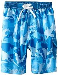 Baby Banz Boys 2-7 Board Shorts, Fin Frenzy Pattern, 6 Years